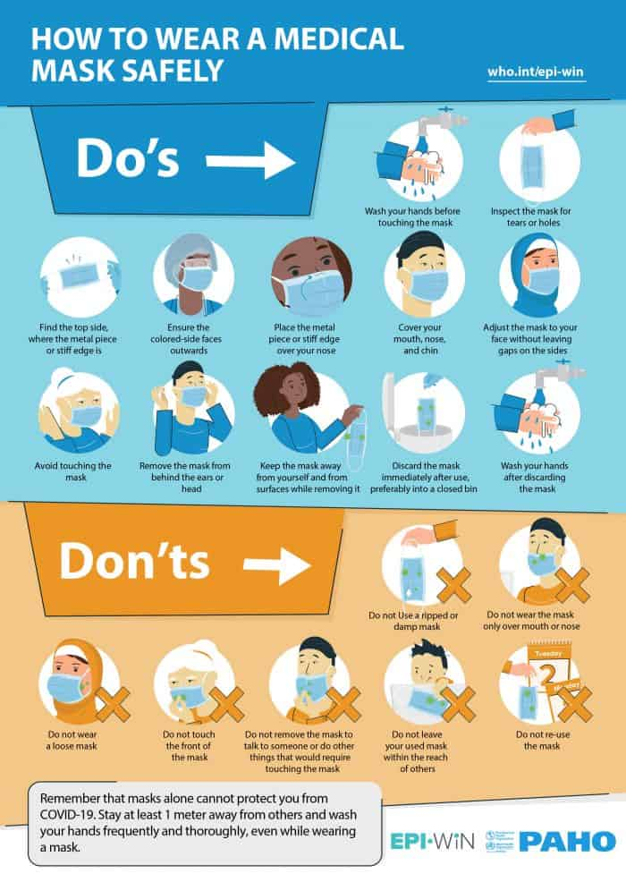 The dos and don'ts of wearing a medical mask safely